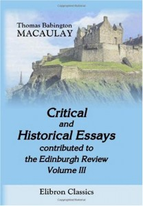 Critical and Historical Essays, contributed to the Edinburgh Review: Volume 3