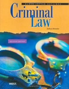 Dressler's Black Letter Outline on Criminal Law, 2d