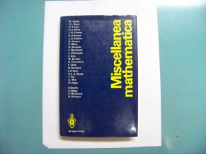Miscellanea Mathematica (English, German and French Edition)