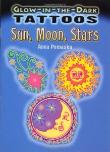 Glow-in-the-Dark Tattoos Sun, Moon, Stars (Dover Tattoos)