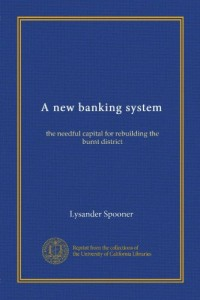 A new banking system (Vol-1): the needful capital for rebuilding the burnt district