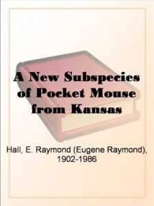 A New Subspecies of Pocket Mouse from Kansas