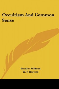 Occultism And Common Sense