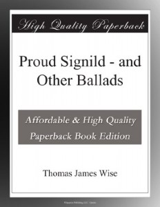 Proud Signild – and Other Ballads