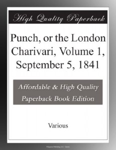 Punch, or the London Charivari, Volume 1, September 5, 1841