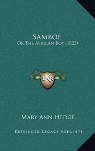 Samboe: Or The African Boy (1823)