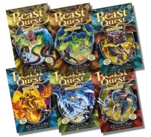 Beast Quest Series 11 Collection – 6 Books RRP £29.94 (61: Elko Lord of the Sea; 62: Tarrok the Blood Spike; 63: Brutus the Hound of Horror; 64: Flaymar the Scorched Blaze; 65: Serpio the Slithering Shadow; 66: Tauron the Pounding Fury)