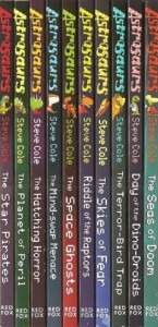 Astrosaurs – 10 Book Set – RRP £49.90: Star Pirates, Planet of Peril, Hatching Horror, Mind-swap Menace, Space Ghosts, Riddle of the Raptors, Skies of Fear, Terror-bird Trap, Dino-droids & Seas of Doom (Astrosaurs)