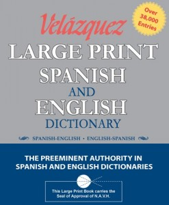 Velazquez Large Print Spanish And English Dictionary
