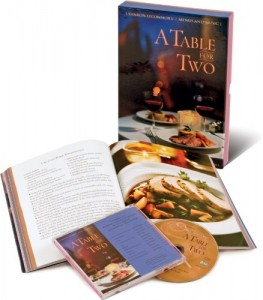 A Table for Two: Recipes from Celebrated City Restaurants; Romantic Jazz Ballads by the Kenny Barron Ensemble (Cookbook & Music CD Boxed Set)
