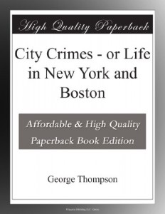 City Crimes – or Life in New York and Boston