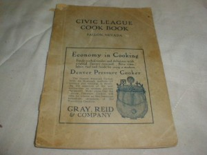 Civic League Cook Book (Fallon, Nevada-1924)